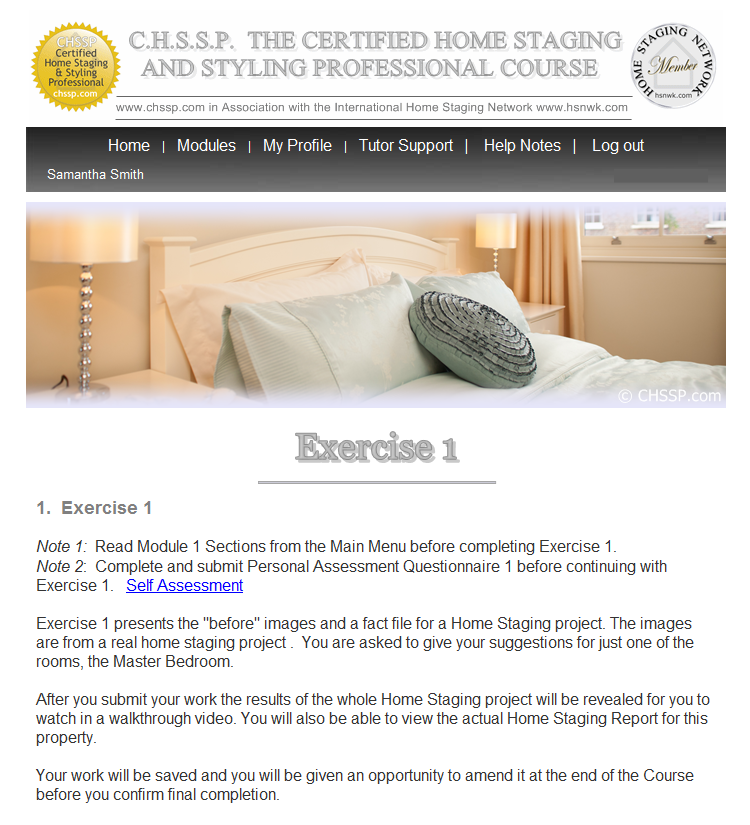 CHSSP Home Staging Course - Exercise 1-1-1