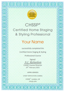 CHSSP Home Staging Certificate