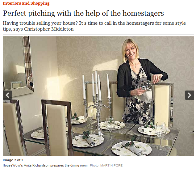 Anita Richardson, Home Staging Feature in the Daily Telegraph